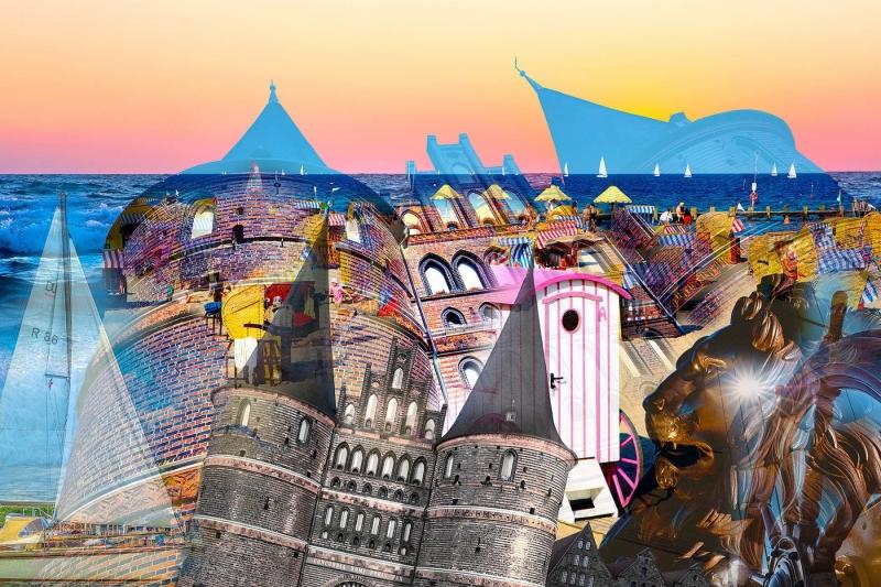 Lübeck und Travemünde Composing 3