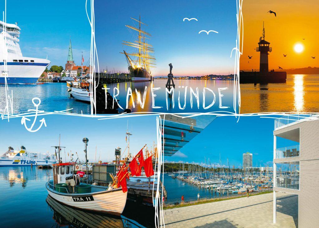 Ansichtkarte vom Ostseebad Travemünde. Die Ansichtskarte bzw Postkarte ist 2019 150 Jahre alt geworden