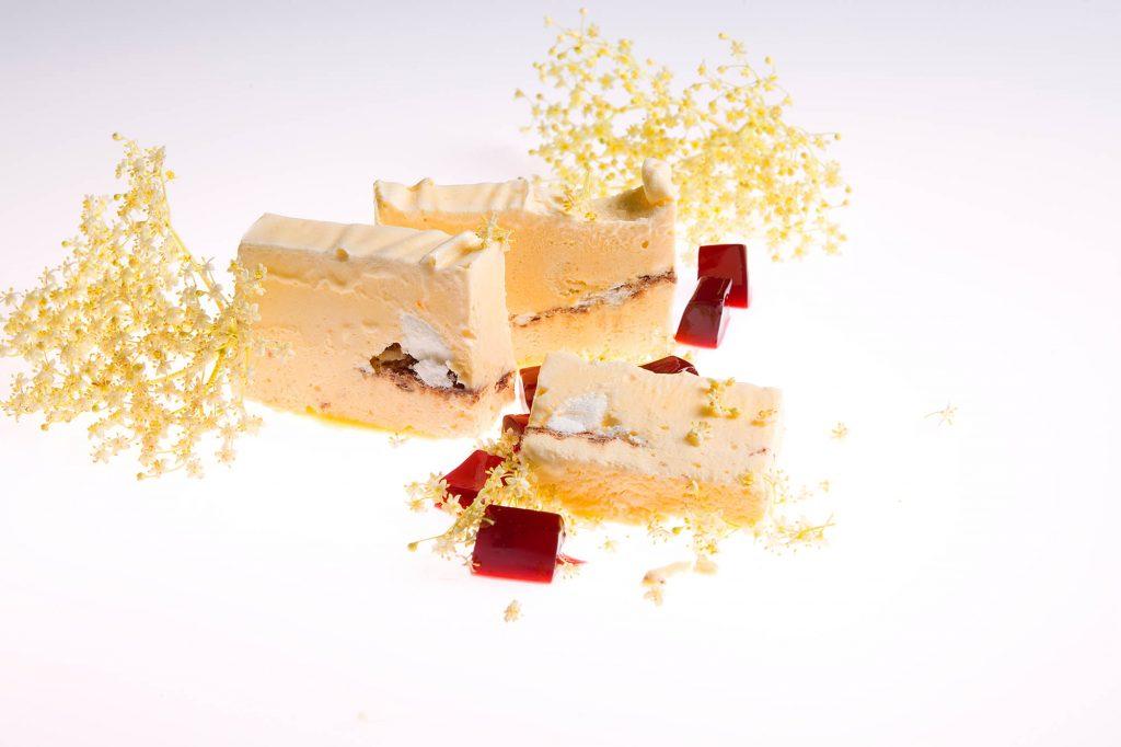 Dessert, Foodfoto, Holunderblütenparfait
