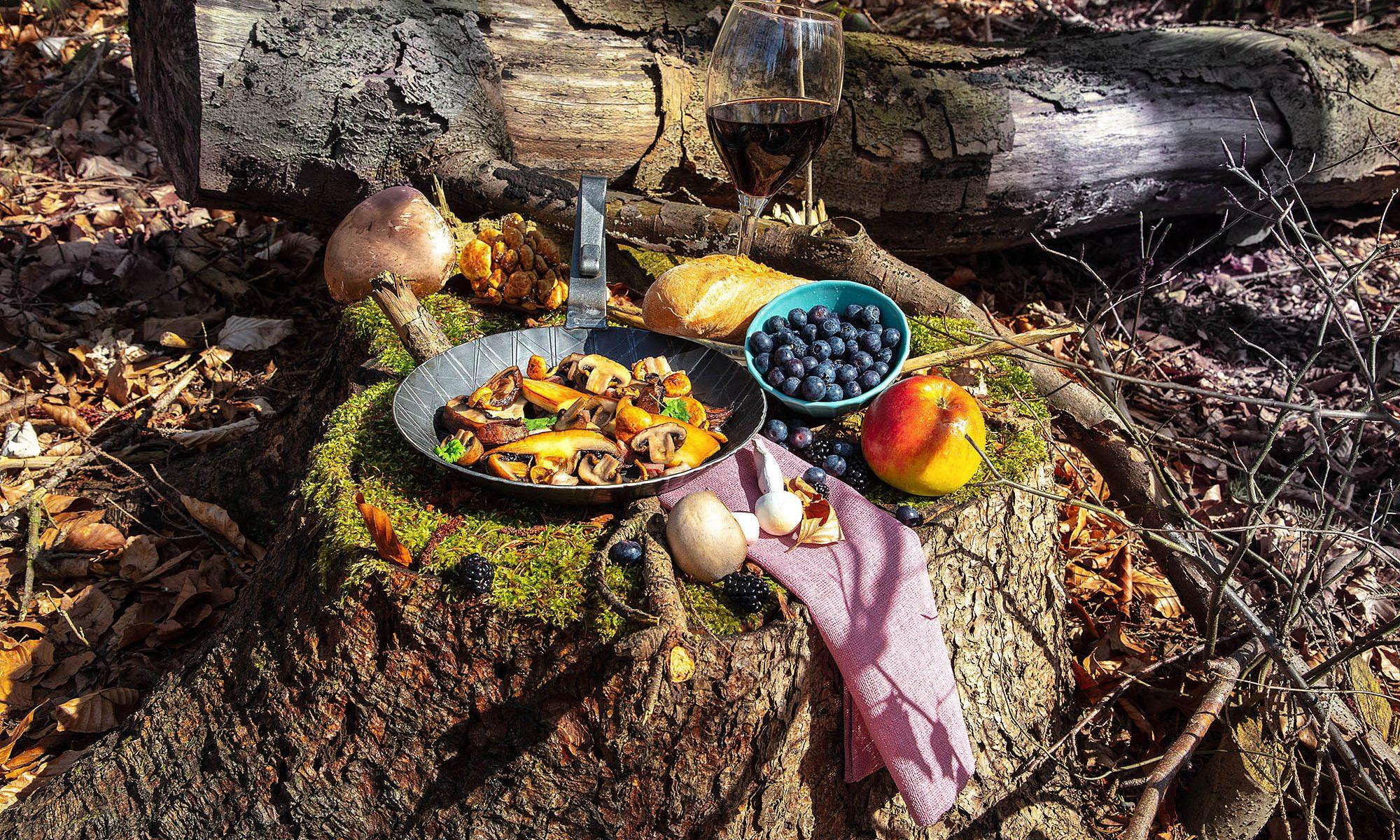 Food im Wald