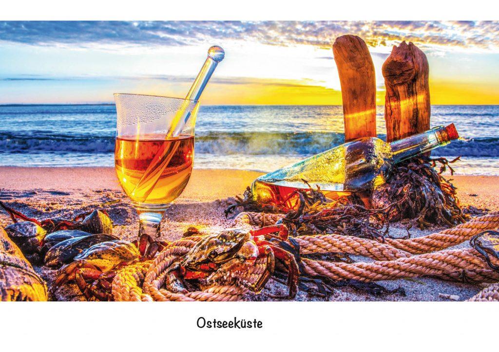 Ansichtskarte, Postkarte Rumgrog an der Ostsee im Sonnenaufgang