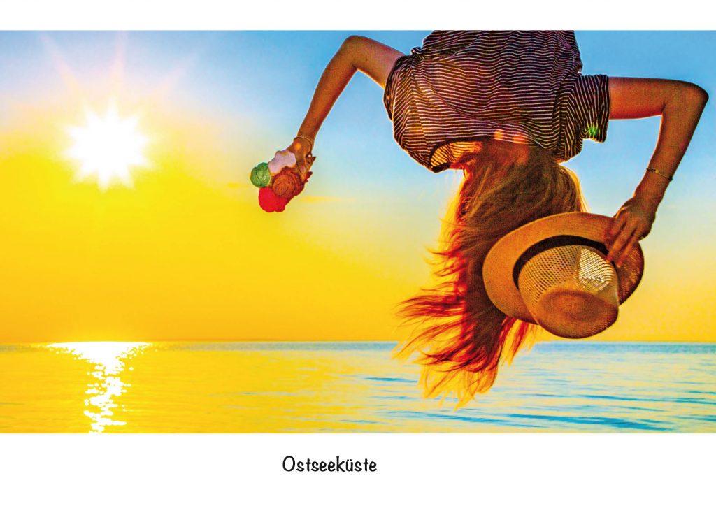 Ansichtskarte, Postkarte Ostseeküste. Abhängen aus der Serie Strandgut