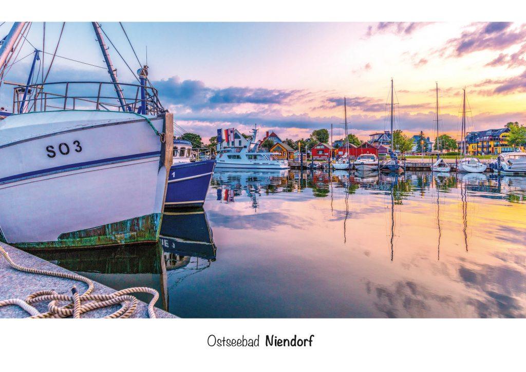 Ostseebad Niendorf, Ansichtskarte Niendorfer Hafen